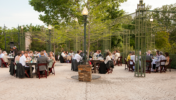 Daytime Wedding Reception on Herzstein Plaza